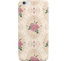 Beautiful seamless pink rose pattern with baroque ornamental iPhone Case/Skin