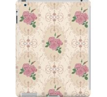 Beautiful seamless pink rose pattern with baroque ornamental iPad Case/Skin