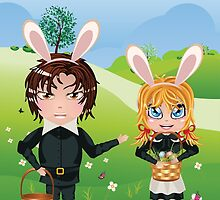 Easter Boy and Girl by AnnArtshock