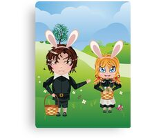 Easter Boy and Girl Canvas Print
