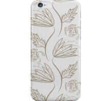 Seamless floral pattern on beige iPhone Case/Skin