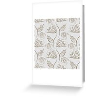 Seamless floral pattern on beige Greeting Card