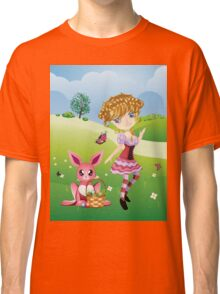 Easter Bunny and Girl Classic T-Shirt