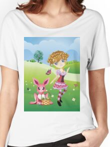 Easter Bunny and Girl Women's Relaxed Fit T-Shirt
