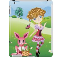 Easter Bunny and Girl iPad Case/Skin