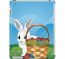 Easter Bunny with Eggs in the Basket 2 iPad Case/Skin