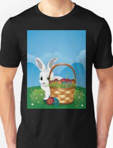 Easter Bunny with Eggs in the Basket 2 Unisex T-Shirt