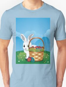 Easter Bunny with Eggs in the Basket 2 T-Shirt