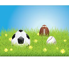 Egg Shaped Sport Balls 2 Photographic Print
