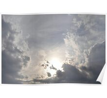 cloudy sunsetting Poster
