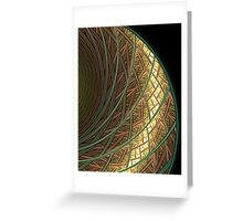 Abstract Rings Of green and Gold Greeting Card