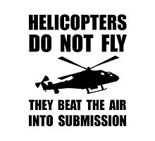 Helicopter Submission Photographic Print