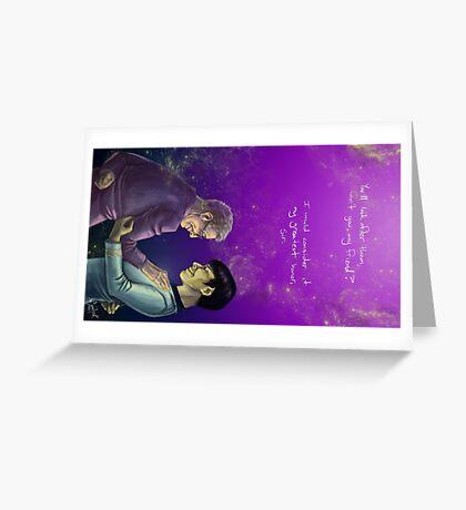Leonard Nimoy - The Greatest Honor Greeting Card