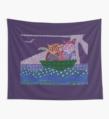 The Owl and the Pussy Cat Wall Tapestry