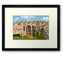 The Princess and The Knight - Playtime Framed Print