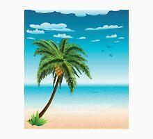 Summer beach and palm Unisex T-Shirt