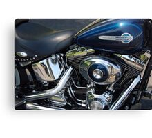 The Motorcycle as Art: Heritage Softail > Canvas Print