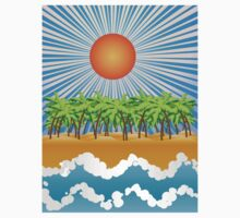 Sunny tropical island Kids Clothes