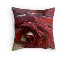 Burgundy Rose Throw Pillow