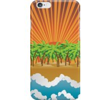 Sunset on tropical beach 3 iPhone Case/Skin