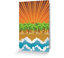 Sunset on tropical beach 3 Greeting Card