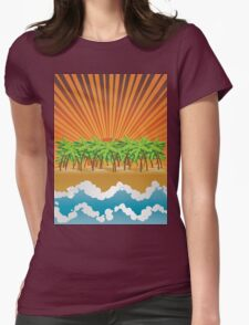 Sunset on tropical beach 3 T-Shirt