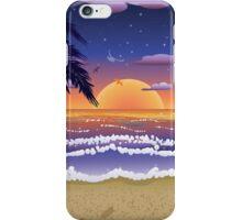Sunset on beach 2 iPhone Case/Skin