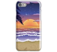 Sunset on beach 2 iPhone Case/Skin