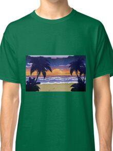 Sunset on beach 2 Classic T-Shirt