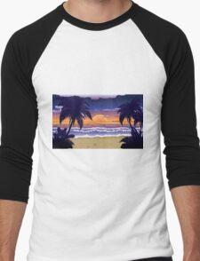 Sunset on beach 2 Men's Baseball ¾ T-Shirt