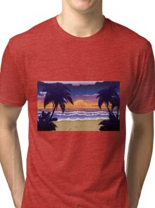 Sunset on beach 2 Tri-blend T-Shirt