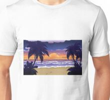 Sunset on beach 2 Unisex T-Shirt