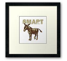 Smart Donkey Framed Print