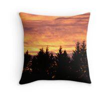 slovenian sunset Throw Pillow