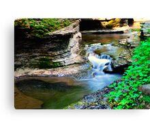 Buttermilk falls I HDR Canvas Print