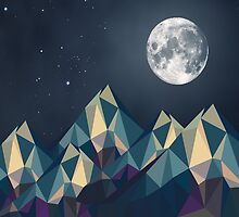 Night Mountains No. 1 by BakmannArt
