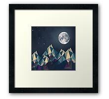 Night Mountains No. 1 Framed Print