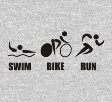 Triathlon Swim Bike Run Kids Clothes