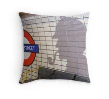 sherlock holmes, baker street Throw Pillow