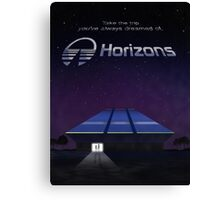 Horizons from EPCOT Center (with Text) Canvas Print
