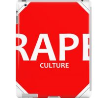 STOP RAPE CULTURE iPad Case/Skin