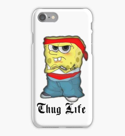 Spongebob Thug Life iPhone Case/Skin