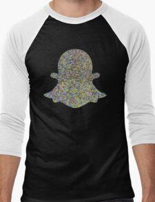 Hologram Glitter Snapchat Emoji Internet Tumblr Instagram Logo Men's Baseball ¾ T-Shirt