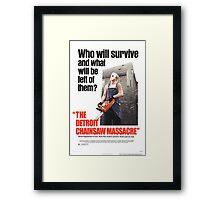 The Detoit Chainsaw Massacre Framed Print
