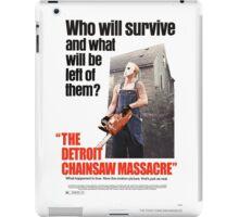 The Detoit Chainsaw Massacre iPad Case/Skin