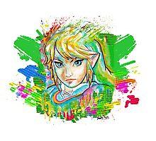Epic Link Streetart Tshirts + More ' Legend of Zelda ' Jonny2may Photographic Print