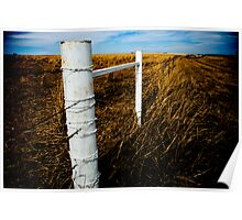 White Fence Poster