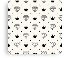 Diamonds and Crowns Canvas Print