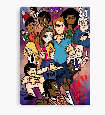 Community: 100 Episodes Canvas Print