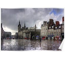 Aberdeen in the rain Poster